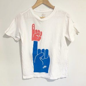 Nike Number One Foam Finger Graphic T Shirt Size L